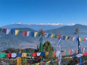 Nepal - vedere a văii Kathmandu de pe vârful Jamacho (2095 m)